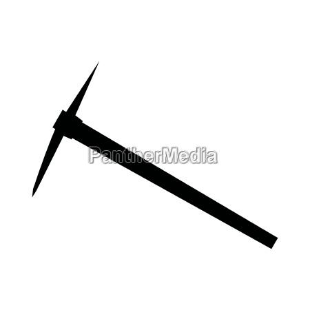 pickaxe black color icon