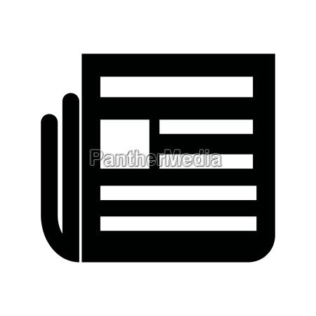 newspaper black color icon