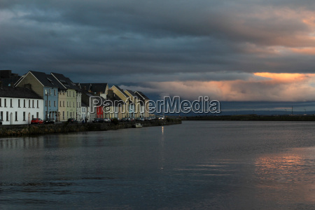 beautiful harbor city galway on the