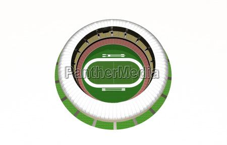 football stadium with opened roof