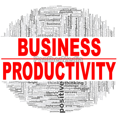 business productivity word cloud