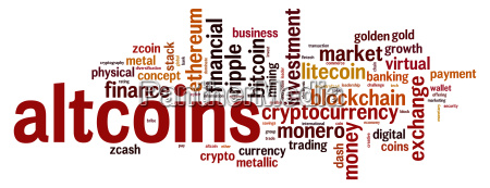 altcoins word cloud