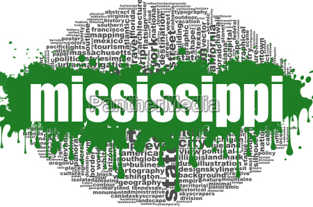 mississippi word cloud design