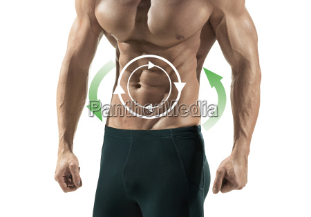 handsome caucasian sexy fitness model isolated