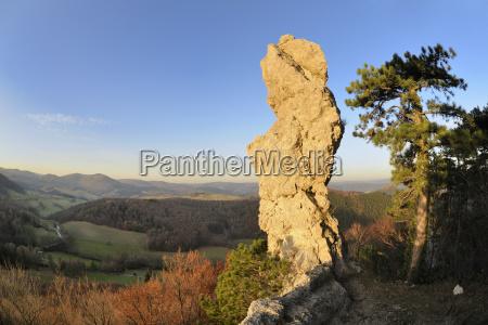 arnstein rock needle at sunset triestingtal