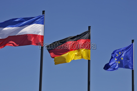 flags of schleswig holstein germany and