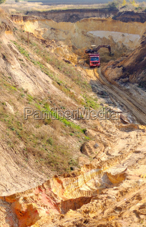 illegal mining of sand in a