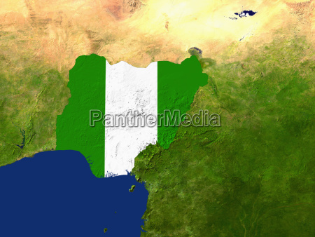 satellite image of nigeria is filled