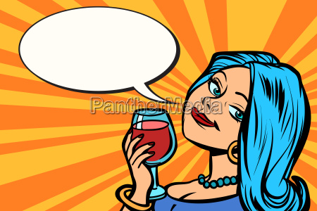 lovely woman with a glass of