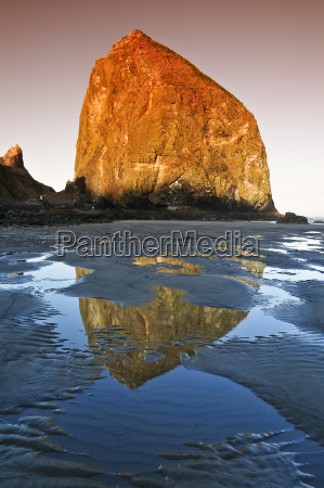 occupational rock haystack rock monolith solidified