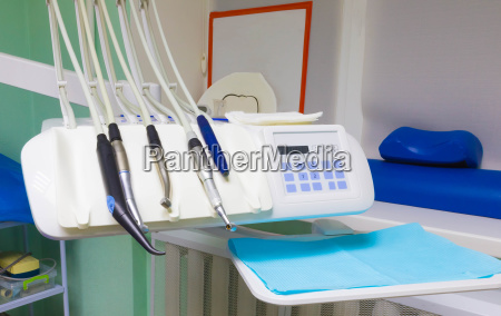 different dental instruments and tools in