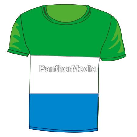 t shirt flag sierra leone