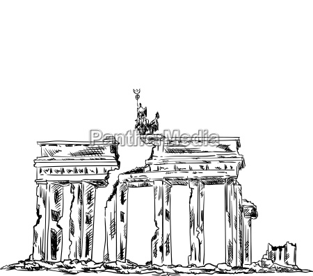 ruins of the brandenburg gate