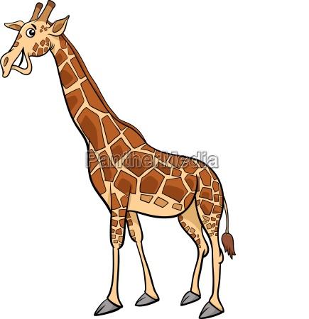 tiercharakter karikaturillustration der giraffe