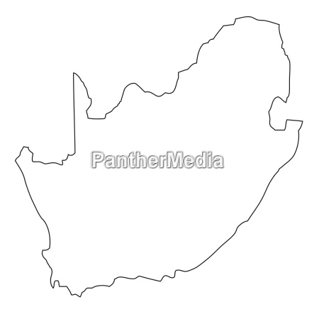 africa outlines illustration south africa border
