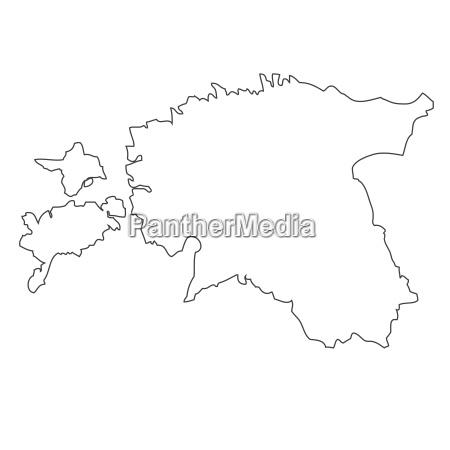 umriss karte von estland