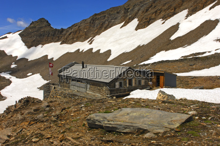 monte leone hut of the swiss