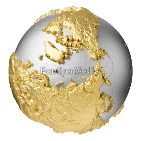 gold north pole