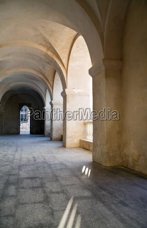 hall detail historical ambulatories columns arch