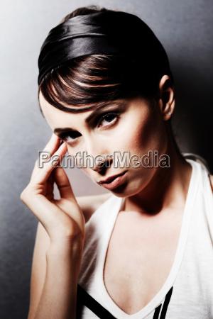woman earnest humans human beings people