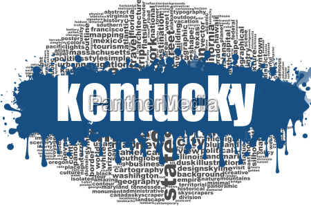kentucky word cloud design