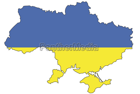 ukraine flag outline europe