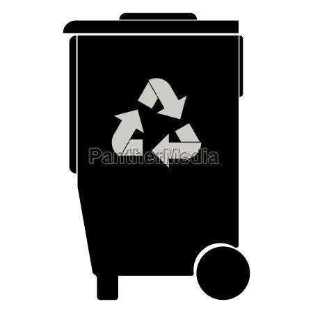 refuse bin with arrows utilization black