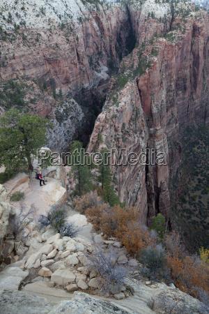 angels landing sandstone rock virgin river