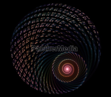 multicolored spiral fractal picture