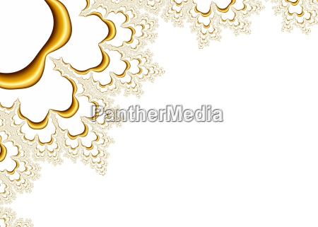 gold fractal pattern on white background