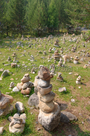 garden rock deserted siberia day during