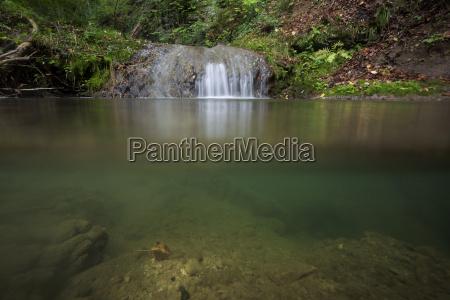 bucolic sights sightseeing waterfall cascades underwater