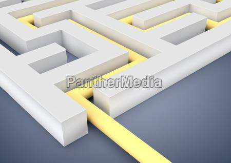 symbolic three dimensional illustration aim goal