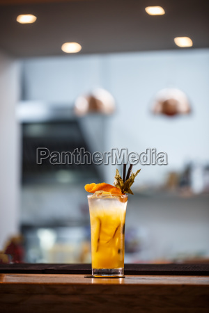 refreshing cold non alcoholic cocktail