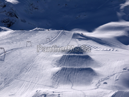 ski resort on the kaunertal glacier