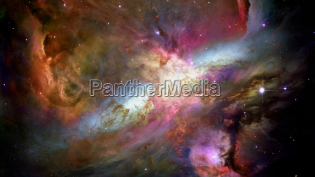 fiery explosion in space elements of