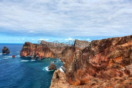 view of the volcanic peninsula ponta