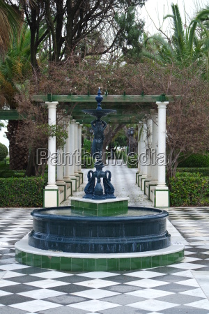 park fountain in cadiz andalusia