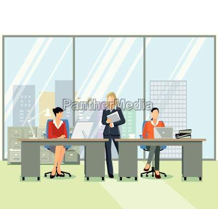 office workplacepeople at workillustration