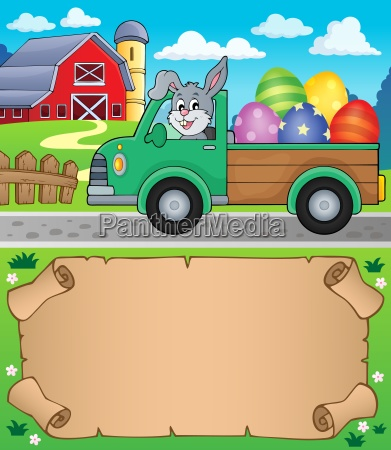 small parchment and easter truck