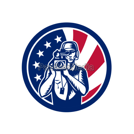 american cameraman usa flag icon