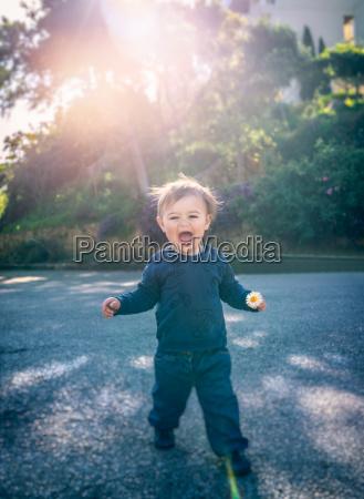 cute happy little boy