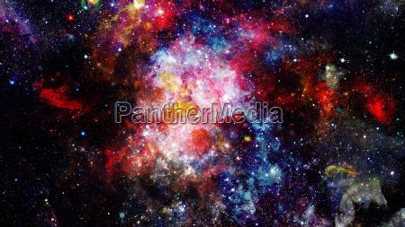 night sky with nebula and stars