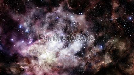 nebula and galaxy majestic background elements