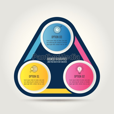 infographic design business concept with 3