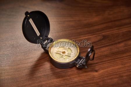 compass on a desk