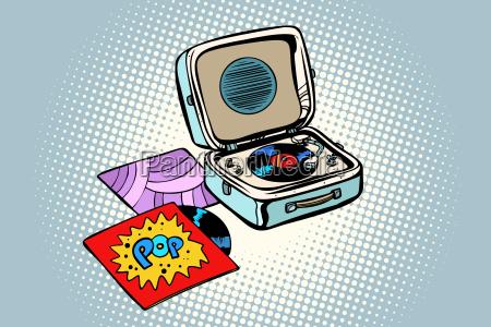 retro record player gramophone pop vinyl