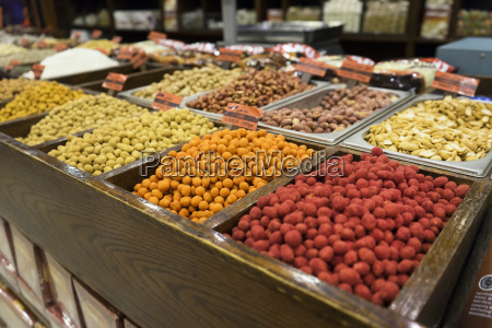 nuts and spices available for purchase