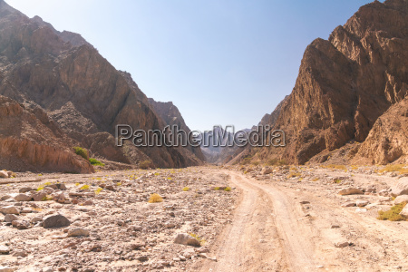 view of road between mountains during
