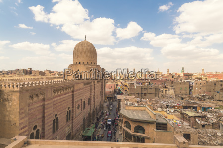 high angle view of cairo during